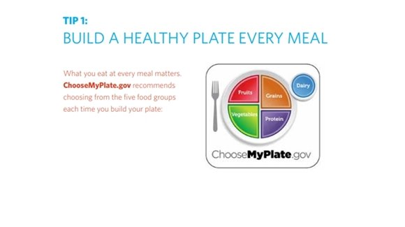 Tip 1: Build A Healthy Plate Every Meal