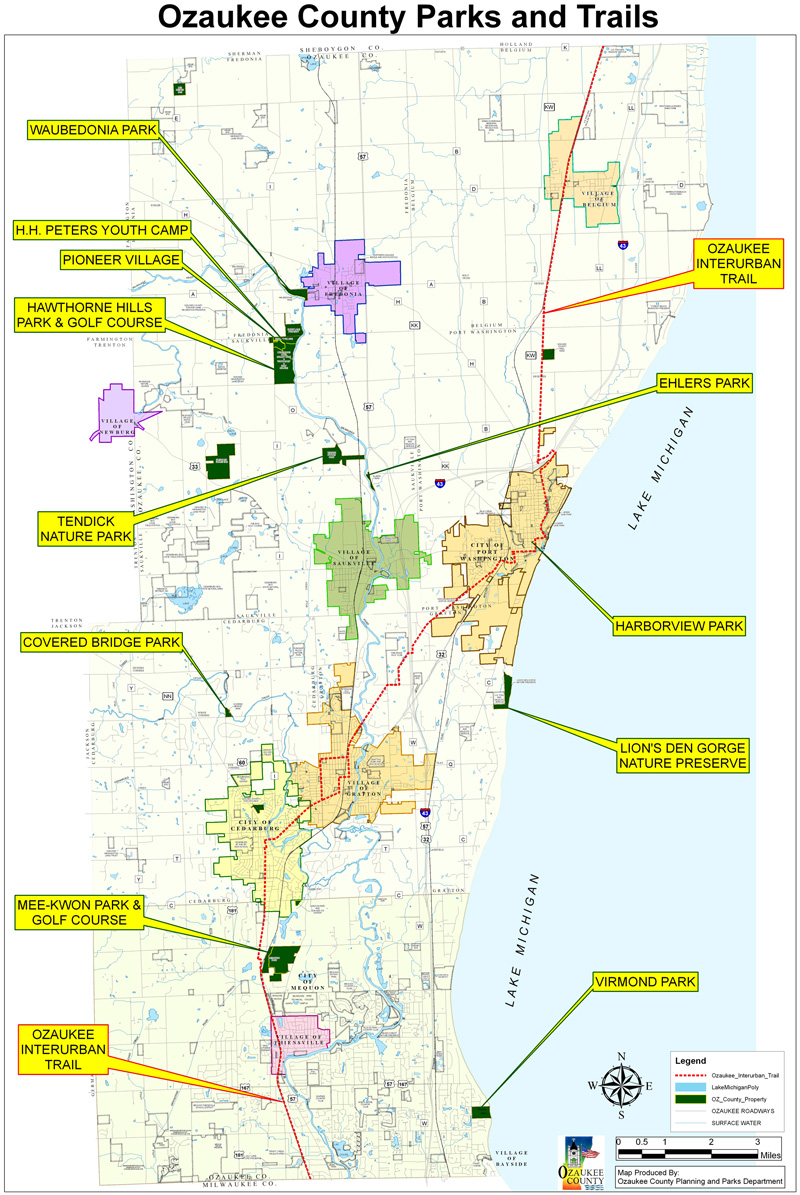 Ozaukee County Parks and Trails