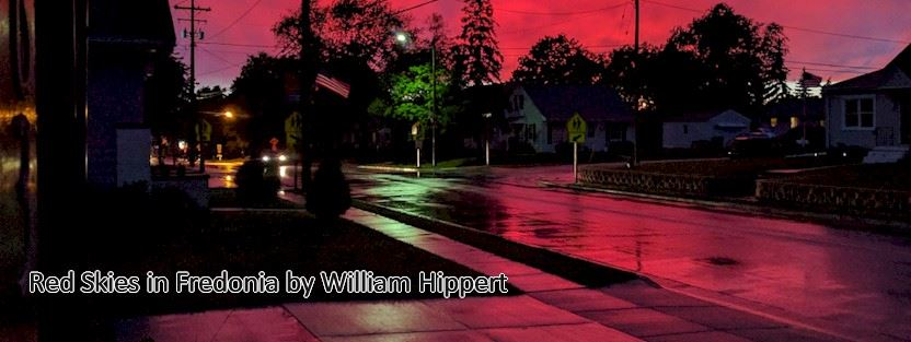 Red Skies in Fredonia by William Hippert
