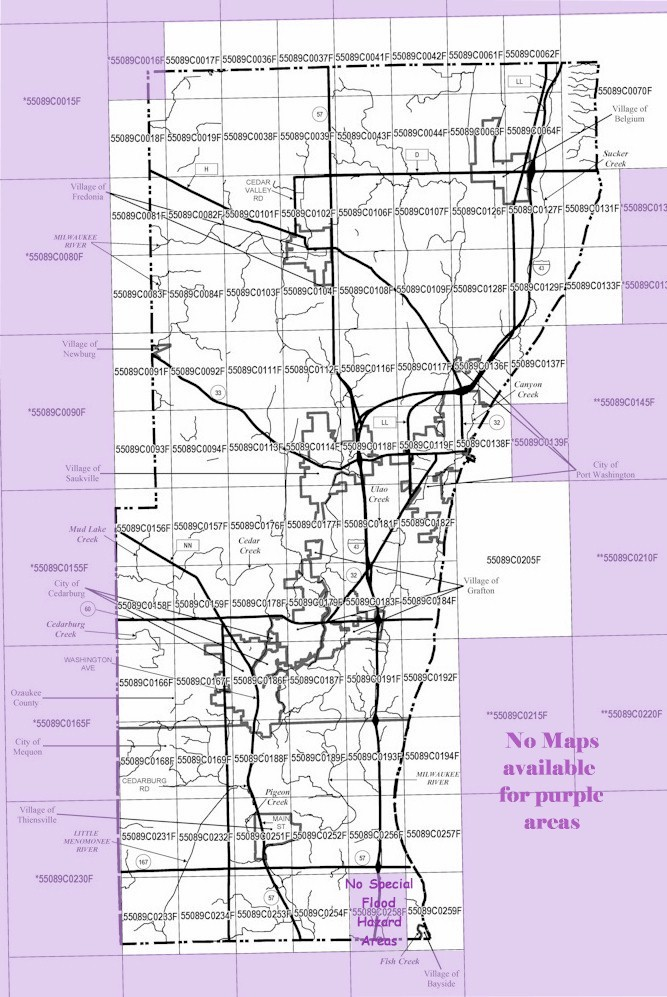 Floodplain Index Map | Ozaukee County, WI - Official Website on map of shorewood, map of greendale, map of wausau, map of menomonee falls, map of lake geneva, map of superior, map of pewaukee, map of elm grove, map of belgium, map of mukwonago, map of fox point, map of eau claire,