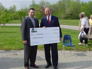 Trace Tendick Accepts Wisconsin Stewardship Grant