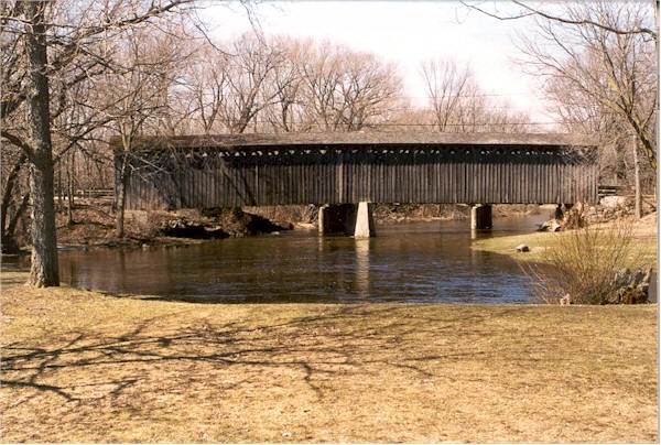Cedarburg Covered Bridge side view