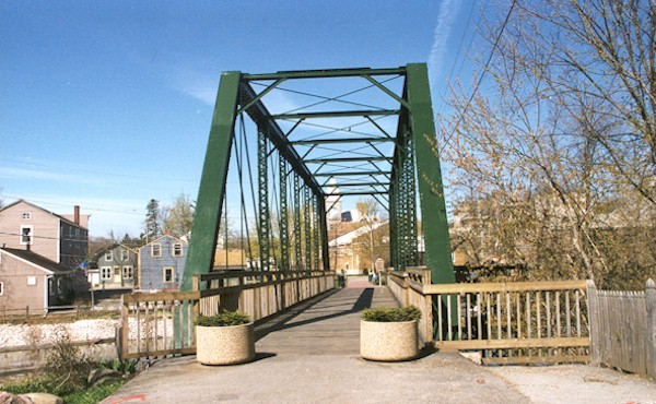 Photo of refurbished Interurban bridge in Cedarburg.