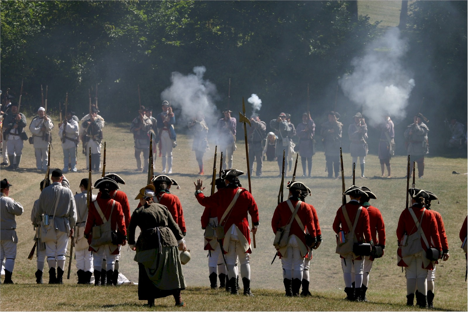 Reenactment Battle in Clearing