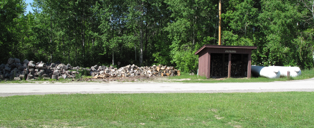 HH Peters Youth Camp Wood Pile