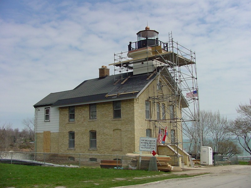 Right side view of light station restoration exterior.