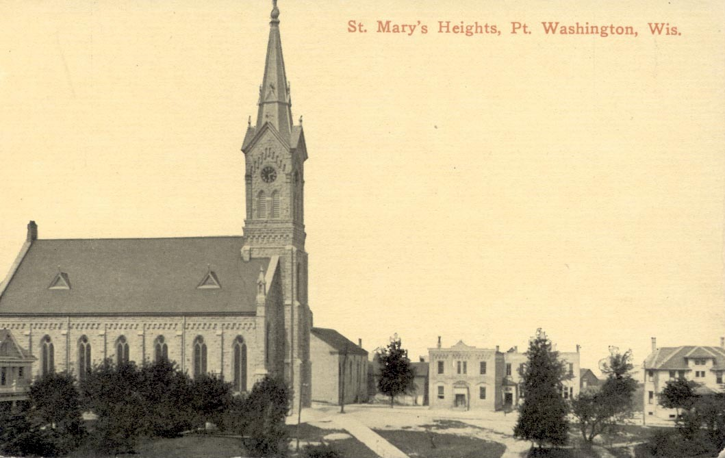 Old photo of St. Mary's Heights, Port Washington, Wisconsin.