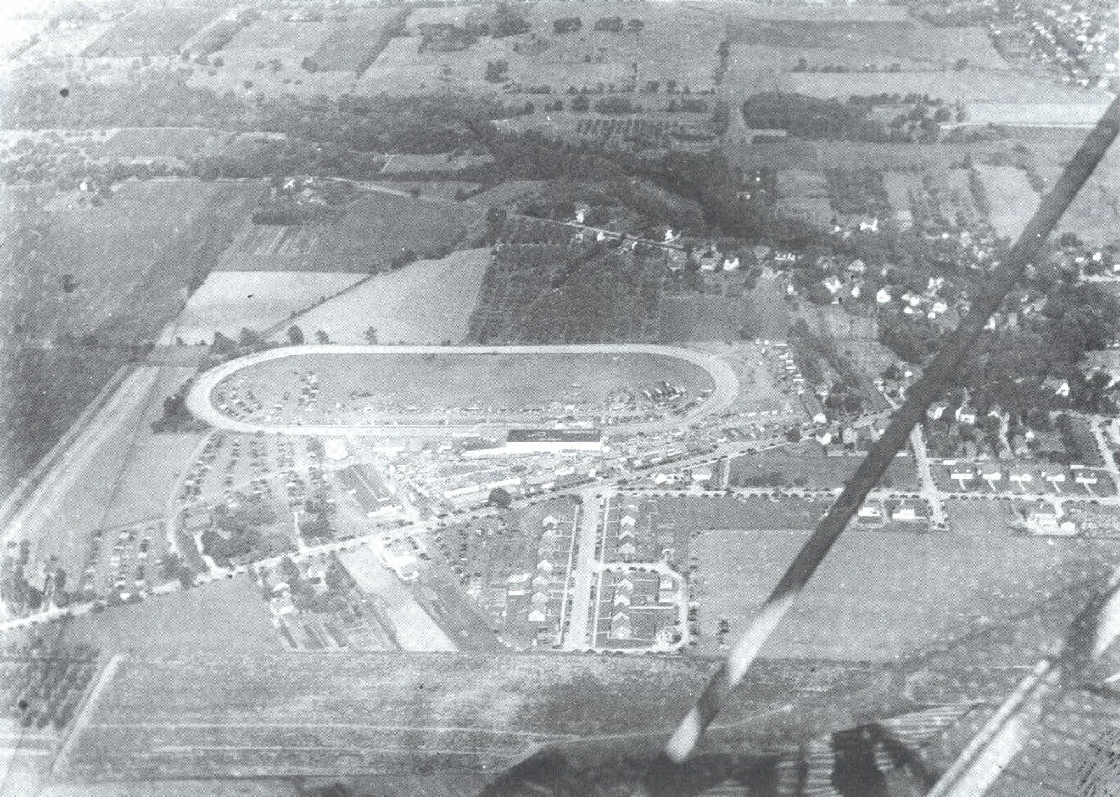 1941 aerial shot of the county fair.