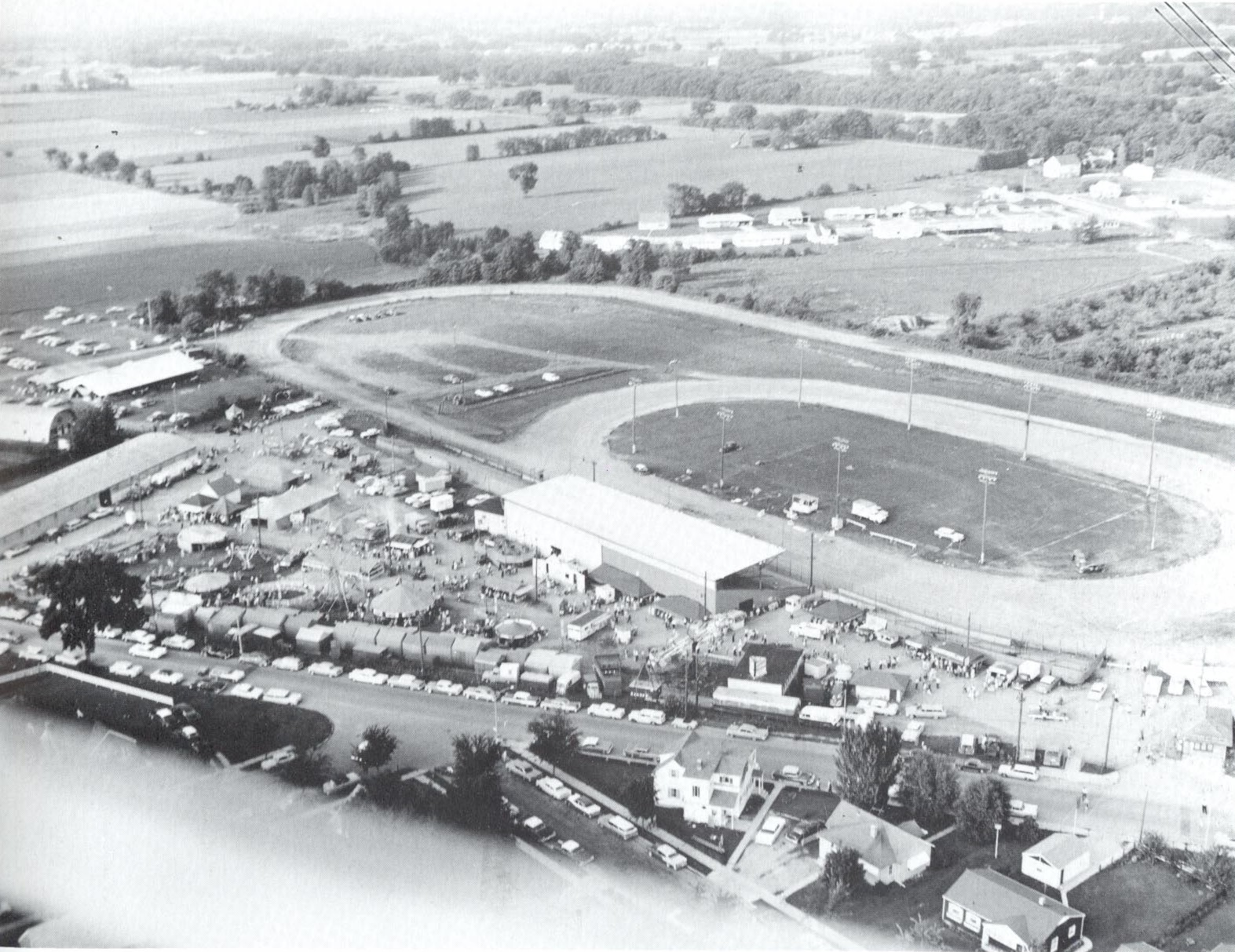 Aerial shot of the 1941 county fair.