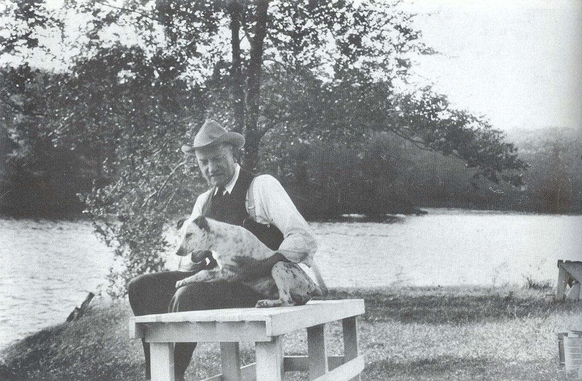 Walter Nero and his dog.