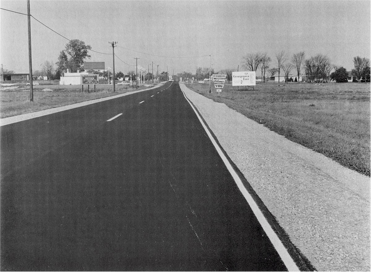 Shot looking down Highway 57 (now Cedarburg Road).