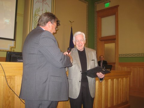 County Board Meeting & Proclamation for Ronald J. Schwalter
